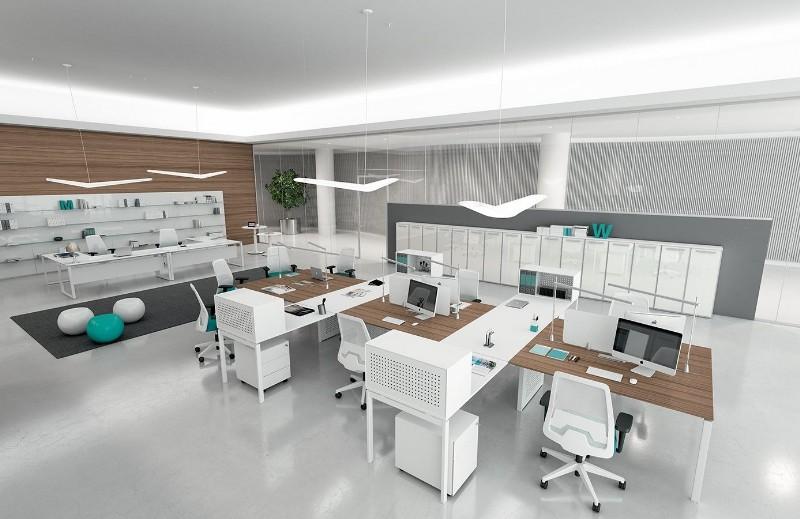 Pareti luci e arredi come arredare l ufficio moderno for Luci arredo